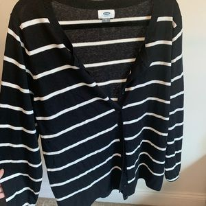 old navy striped cardigan